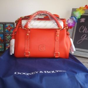 NWT Dooney & Bourke Small Persimmon Raleigh Satche